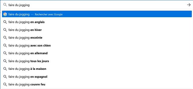 Trouver des mots-clés de longue traine avec Google
